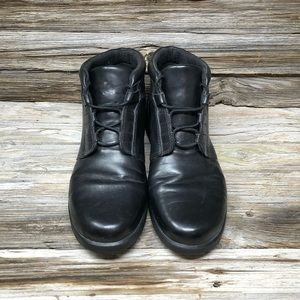 Clarks Limbo Dance Ankle Boots Black Leather 8